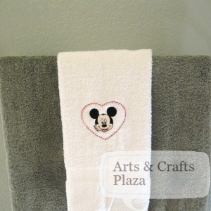"Mickey Mouse towel Embroidery ""how to"""