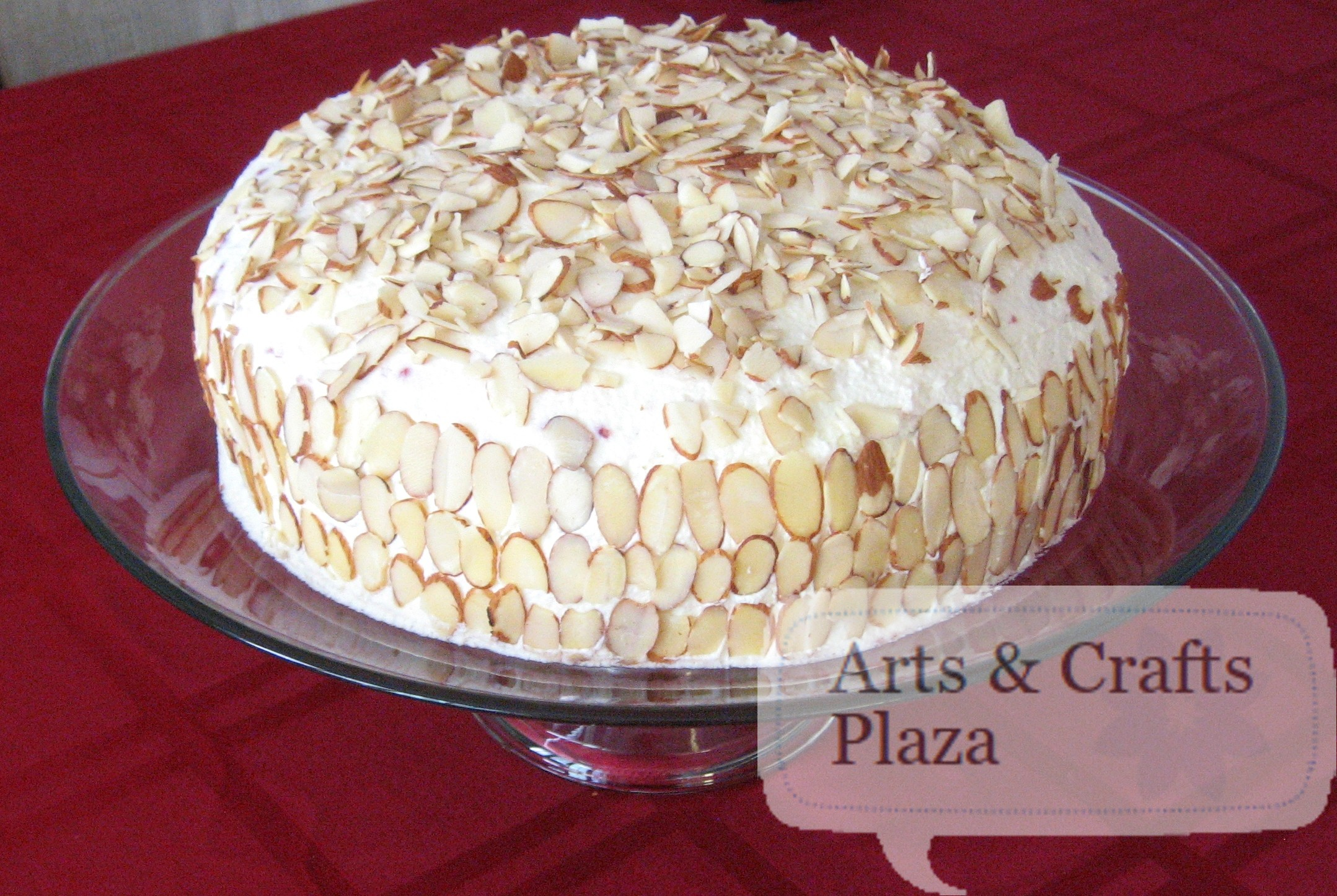 Almond Scented White Cake 37 — Arts & Crafts Plaza